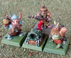 chaos dwarf mortar and crew